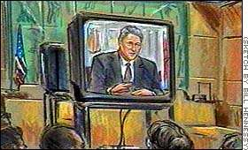 Sketch of Clinton on tape